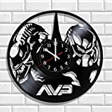 Wall clock Alien vs Predator AVP made from real vinyl, Original Alien vs Predator AVP wall poster