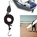 Adjustable Kayak Rope Hanger,Practical Super Strong Multi Uses Rope Ratchet Tie Down with S-Shaped Hook for Kayak and Canoe