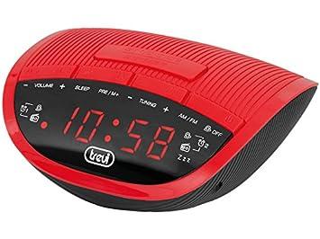 Trevi RC 825 D Reloj Digital Negro, Rojo - Radio (Reloj, Digital,