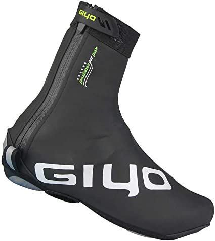 Unisex Tall Waterproof Cycling Shoe Covers with Reflective Elements