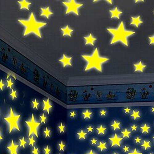 - Hot Sale!DEESEE(TM)100PC Kids Bedroom Fluorescent Glow In The Dark Stars Wall Stickers