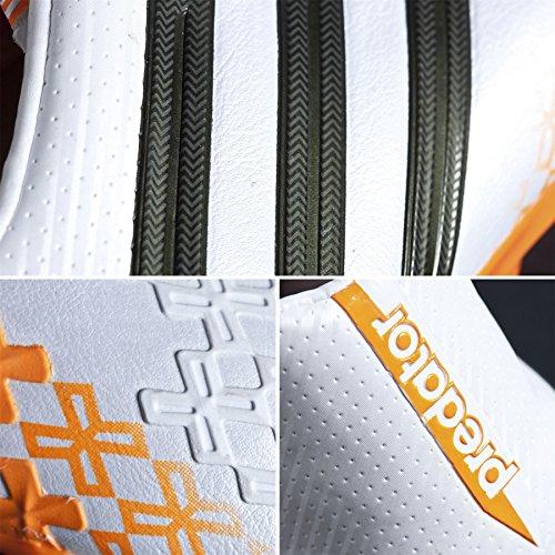 Adidas Predator LZ TRX FG Fussballschuhe running white-earth green-solar zest - 42 2/3 bianco e arancione