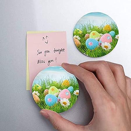 Huevos de Pascua decorados Hierba en azul Imanes para refrigerador 2 piezas Abridor de botellas de cerveza Refrigerador Abridor de botellas de pared