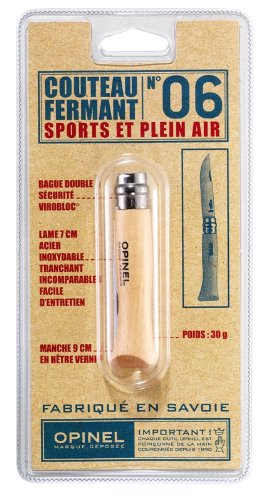 Opinel No 6 Stainless Steel Folding Knife, Outdoor Stuffs