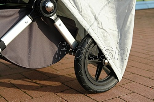 softcush Abdeckung f/ür Kinderwagen Teutonia Mistral S Regenschutz Regenverdeck