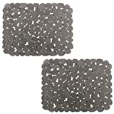Pebble Sink Mat BliGli PVC Eco-friendly Kitchen Adjustable Sink Mat Pad Sink Protector (2 packs)