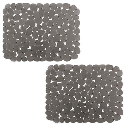 Under Construction Placemat - Pebble Sink Mat BliGli PVC Eco-friendly Kitchen Adjustable Sink Mat Pad Sink Protector (2 packs)