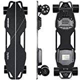 Spadger Electric Skateboard D5X Plus 35'' Electric Longboard, 23Mph 900W Dual Motor, 12 Miles Range, Load up to 264Lbs, with Wireless Remote Control & APP Control Bulit-in LED Lights
