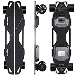 Features Top Speed: 23 mph (38 kmh) Weight:17.6lbs (8 kg) Range:9-12 miles (15-20 km) Motor:450W*2 Drop Through Deck 97mm PU and Wheel Replaceable UrethanesSpeed Mode Beginning mode: 0-9mph Eco mode: 0-15mph Expert mode: 0-19mph Pro mode: 0-2...