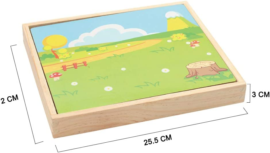 Local Makes A Comeback Tableau de dessin double face Puzzle 3D en bois pour enfants Puzzle magn/étique pour enfants
