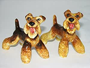 Airedale Terrier Salt and Pepper Shaker Set