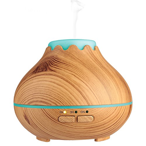 Aromatherapy-Essential-Oil-Diffuser-Sounwill-Ultrasonic-Aroma-Cool-Mist-Humidifier-Air-Purifier-150ml-Mini-Wood-Grain-7-Color-LED-Lights-BPA-Free-for-Office-Study-Kids-Yoga-SpaMassage-Room