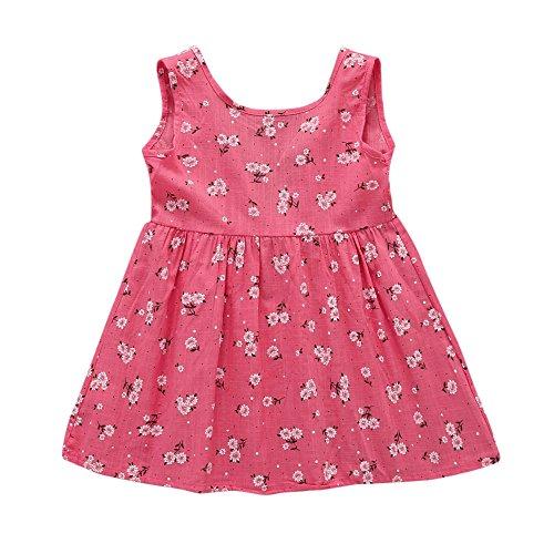 5028b6299 60% de descuento Vestido para niña Puntos floral Imprimir Vestido de bowknot  Princesa Vestido para