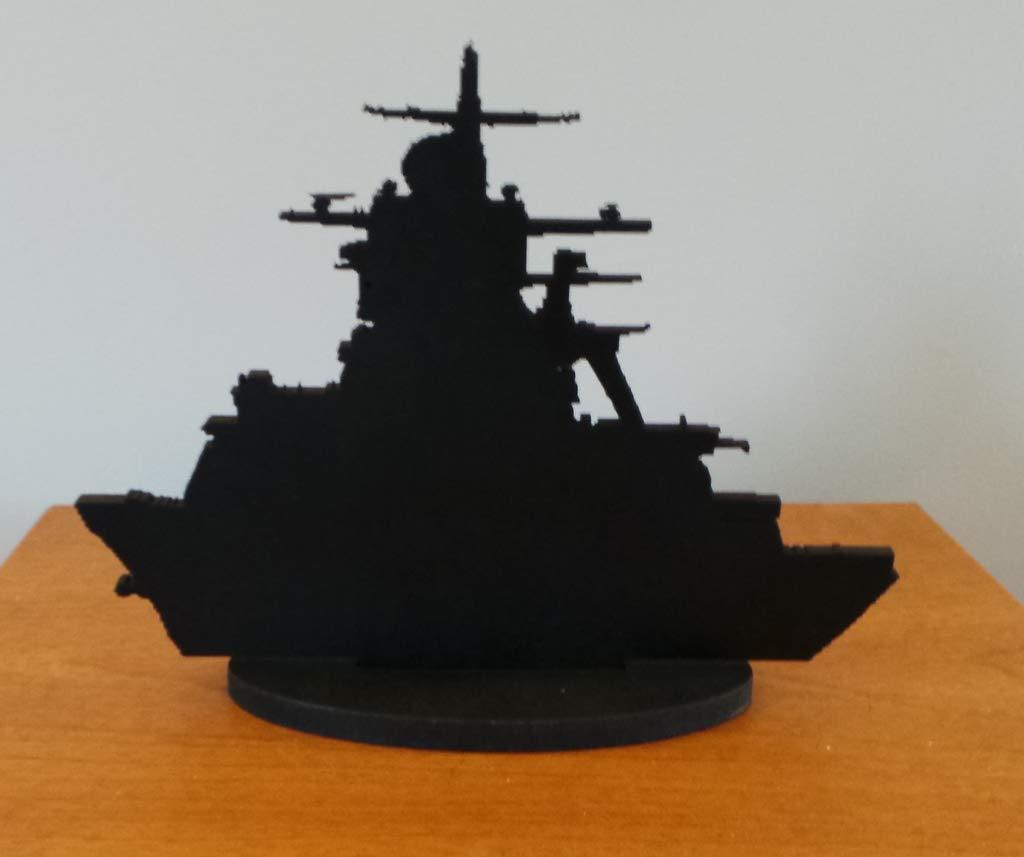 Silhouette British Navy Warship ~ Standing 15 x 12 cm