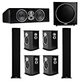 Polk Audio RTi 7.1 System with 2 A9 Tower Speakers, 1 CSi-A6 Center Speaker, 4 FXi-A6 Surround Speaker, 1 Polk PSW125 Subwoofer