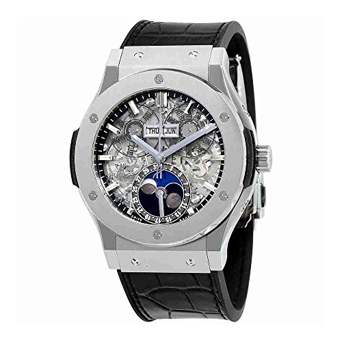 Hublot Classic Fusion Aerofusion Moonphase Titanium 45mm Mens Watch 517.NX.0170.LR