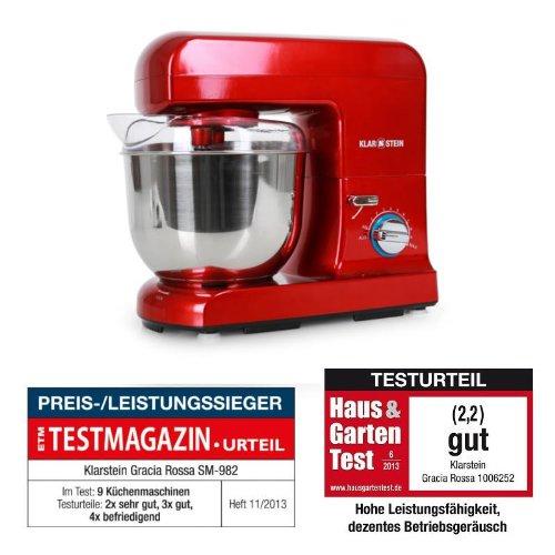 Klarstein 10006252 gracia rossa robot de cocina for Robot de cocina para amasar