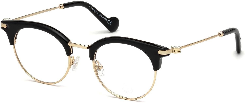 b456d50562 Eyeglasses Moncler ML 5020 001 shiny black  Amazon.co.uk  Clothing