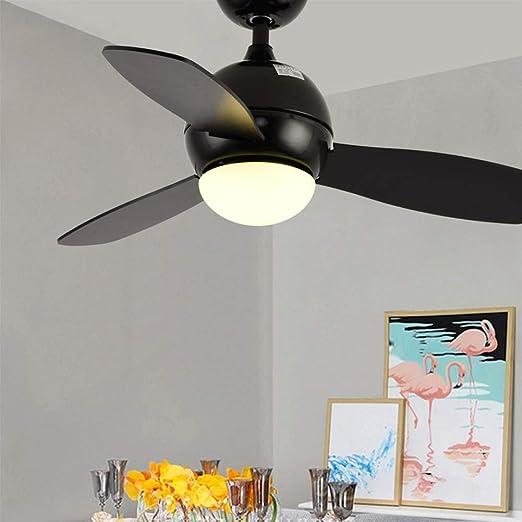 MMD Ventilador de Techo Moderno con luz Iluminación Interior ...