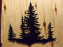Beautiful 3D Pines On Landscape