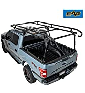 EAG Contractor Pickup Truck Ladder Lumber Rack Loads up to 1500 lbs - Full Size Heavy Duty