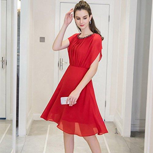 MM Gras Gueules Cordon Fashion de Code 2018 Robe L big Color Pure Nail Chiffon Robes Nouveau Soeur MiGMV Fat xqfCXxB
