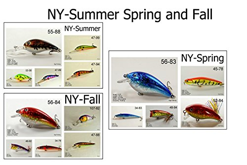 New York Bass - Akuna Seasonal Lures for Bass Fishing for Each of The USA 50 States (Pack of 15), New York, Spring/Summer/Fall