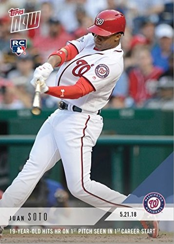 2018 Topps Now Baseball #235 Juan Soto Rookie Card - 1st Official Rookie Card - Only 6,815 made!