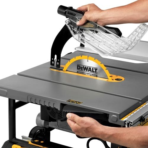 Dewalt dwe7491rs 10 inch jobsite table saw with 32 12 inch rip dewalt dwe7491rs 10 inch jobsite table saw with 32 12 inch rip capacity and rolling stand power table saws amazon greentooth Images