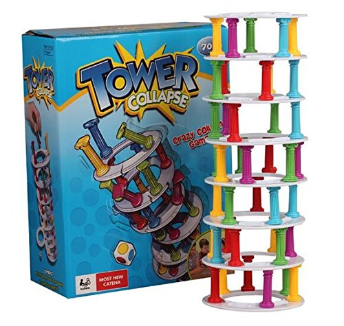 Wobbly Tower Collapse Board Game Family Parent Child Interactive (Spider Tower)