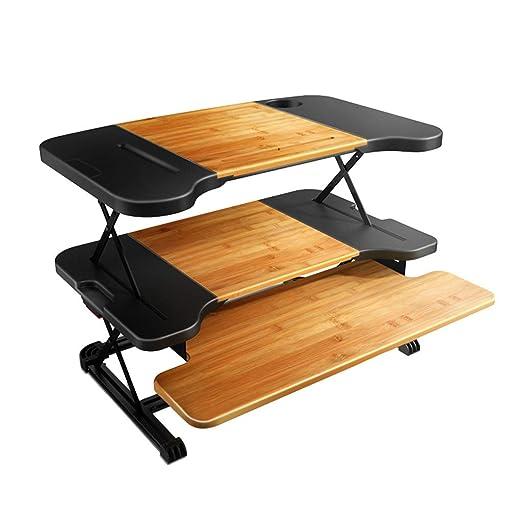 Mesas para ordenador Escritorio De Pie Sit-Stand Altura Escritorio ...