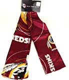 NFL Silk Team Scarf - VARIOUS TEAMS - Silky Smooth Feel (Washington Redskins)