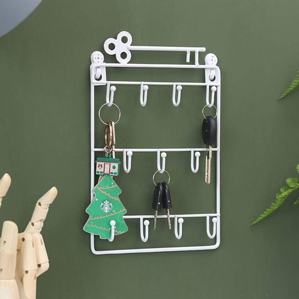 ENDUL Bolsillo Organizador montado en la Pared de 11 Llaves para Rack Organizador para decoraci/ón de la Oficina de la Cocina de Entrada Blanco 1 Pieza