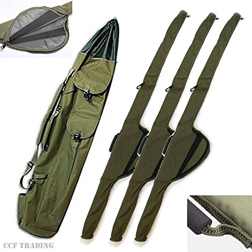 NGT Rod Holdall Quiver & 3 Rod Sleeves Holds Big Pit Reels Fishing Luggage