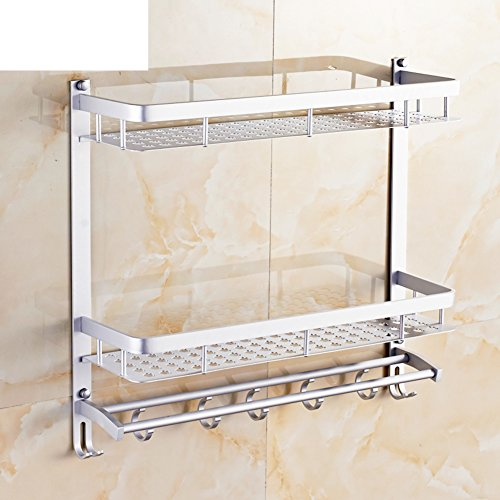 hot sale Space aluminum bathroom wall mounted racks/ room supplies storage rack-C