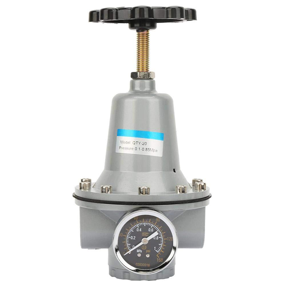G3/4 Air Regulator, QTY-20/QTY-25 Overflow Air Compressor Pressure Regulator Valve Regulating Tool with Gauge 0.05-0.85Mpa (QTY-20) by Vikye