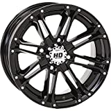 4/110 STI HD3 Alloy Wheel 12x7 5.0 + 2.0 Gloss Black BOMBARDIER HONDA JOHN DEERE KAWASAKI KYMCO POLARIS SUZUKI YAMAHA