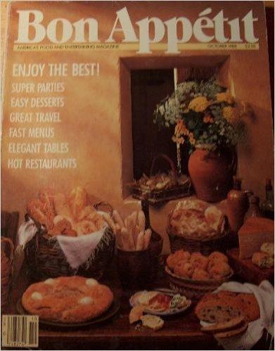 Bon Appetit Magazine October 1988 - Festive Fall Recipes - Easy (Halloween Bon Appetit)