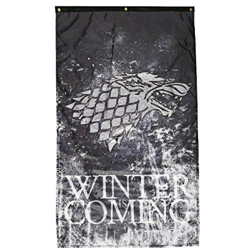 (Winter is Coming Game of Thrones Flag Stark Wall Banner (30