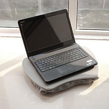 SoBuy® Soporte table/mesa ergonómico para el ordenador portátil,Lapdesk for notebooks,Lapdesk para portátiles,sobre rodilla,con maneje para transporte ...