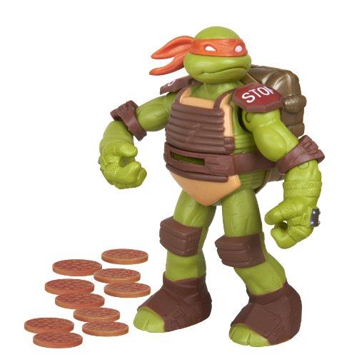 Teenage Mutant Ninja Turtles Flingers Disc Firing Michelangelo Figure (Ninja Turtle Sai)