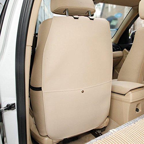 HONCENMAX R/ückenlehnenschutz Auto R/ückenlehne Schutz Wasserdicht Einfach zu S/äubern Multifunktional Veranstalter Aufbewahrungstasche Reisezubeh/ör PU-Leder 2 Packungen