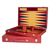 Worldwise Imports Burgundy Tournament Backgammon
