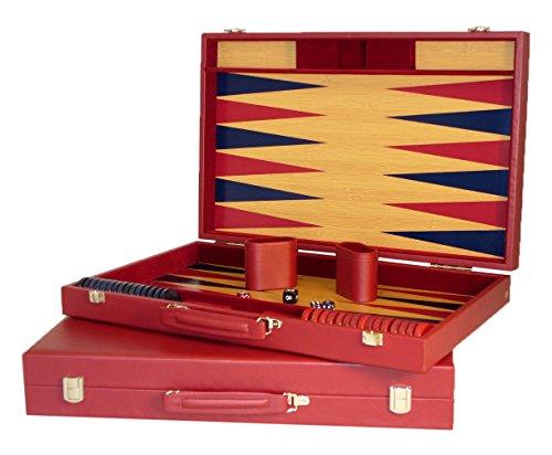 Worldwise Imports Burgundy Tournament Backgammon