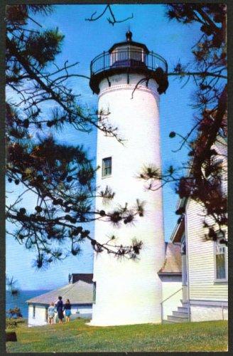 West Chop Lighthouse Vineyard Haven MA postcard 1959 ()