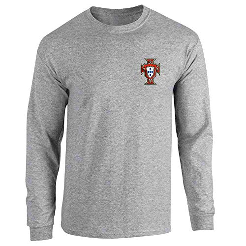 25b2e3446 Portugal Soccer Retro National Team Football Sport Grey S Long Sleeve T- Shirt