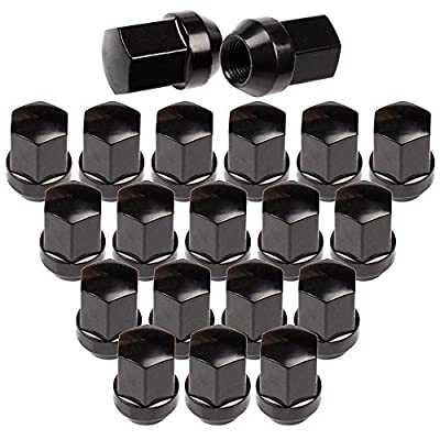 OCPTY Set of 20 Black Wheel Lug Nuts 9/16