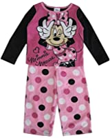Disney Little Girls Dotted Minnie Mouse 2 Pc Pajama Set 4T Pink
