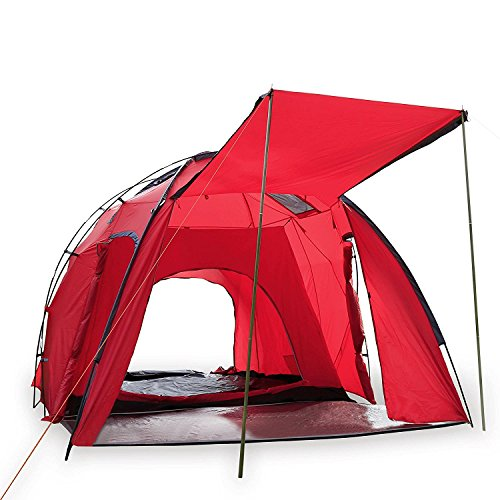 Wnnideo 8-10 Person Large Dome Tent Waterproof 5000MM Tents for Camping Backpacking Hiking Mountain Picnic Beach 2 Doors Double-Wall Festival Family Camping Tent