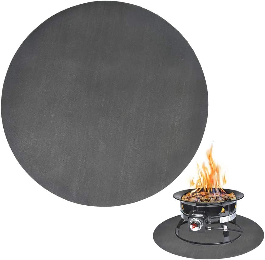 Fire Pit Mat, Bonfires, Lawn, Patio, Chiminea, Deck Defender, Under Grill Mat, BBQ Mat, Heat Shield, Fire Resistant Pad for Outdoors (48 Inch Round)